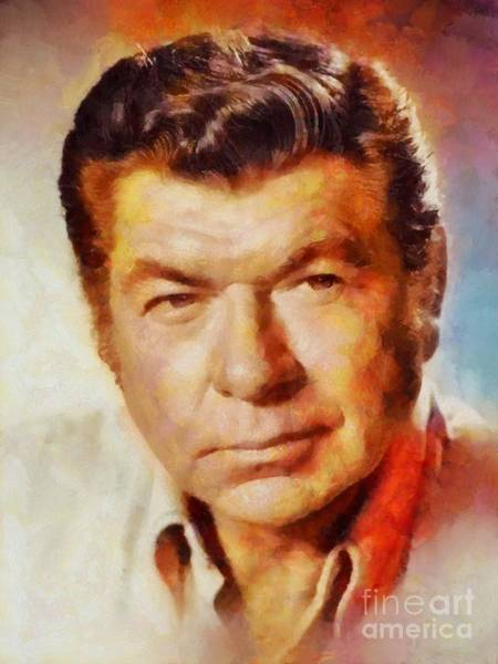 Poetry Painting - Claude Akins, Vintage Hollywood Actor by Sarah Kirk