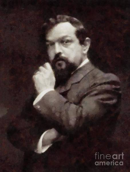 Poetry Painting - Claude Debussy, Composer By Sarah Kirk by Sarah Kirk