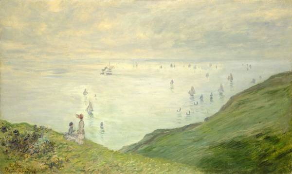 Wall Art - Painting - Claude Monet French, 1840-1926, Cliffs At Pourville 1882 by Celestial Images