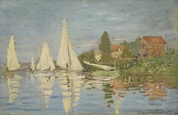 Wall Art - Painting - Claude Monet - Regattas At Argenteuil by Celestial Images