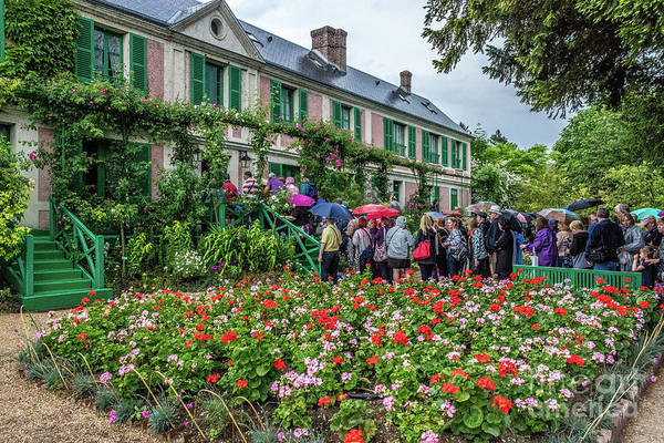 Claude Monet Photograph - Claude Monet's Home On A Rainy Day, Giverny, France by Liesl Walsh