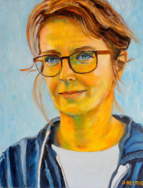 Painting - Claudia-portrait by Dagmar Helbig