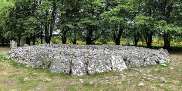 Photograph - Clava Cairn Stones 0750 by Teresa Wilson