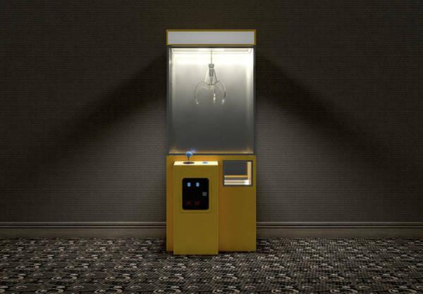 Wall Art - Digital Art - Claw Arcade Game In Room by Allan Swart