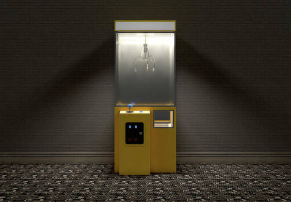Claws Digital Art - Claw Arcade Game In Room by Allan Swart