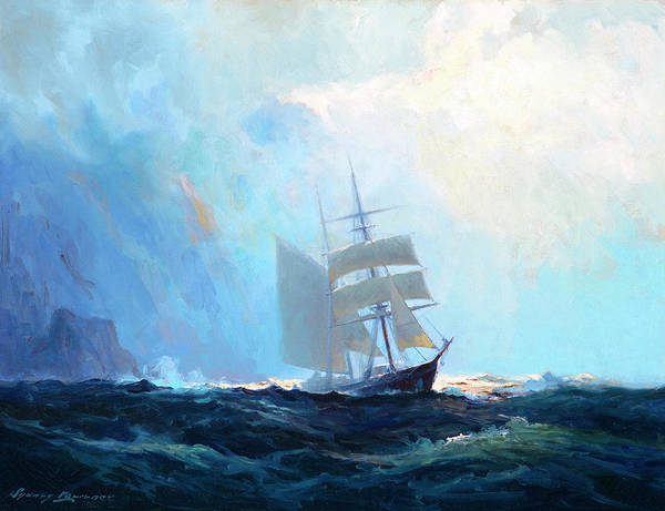 Wall Art - Painting - Clawing Off A Lee Shore by Sydney Mortimer Laurence