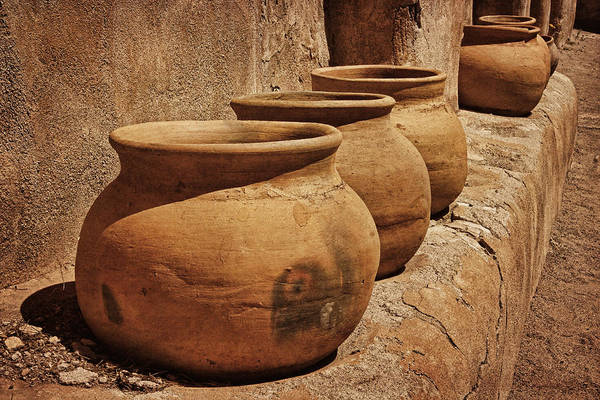 Photograph - Clay Pots At Tumaca'cori Txt by Theo O'Connor