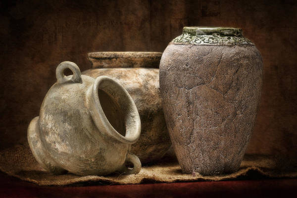 Vases Photograph - Clay Pottery II by Tom Mc Nemar