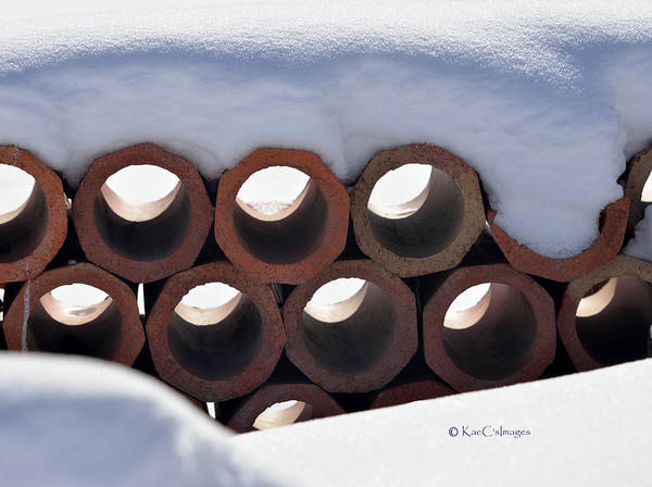 Photograph - Clay Works And Snow #2 by Kae Cheatham