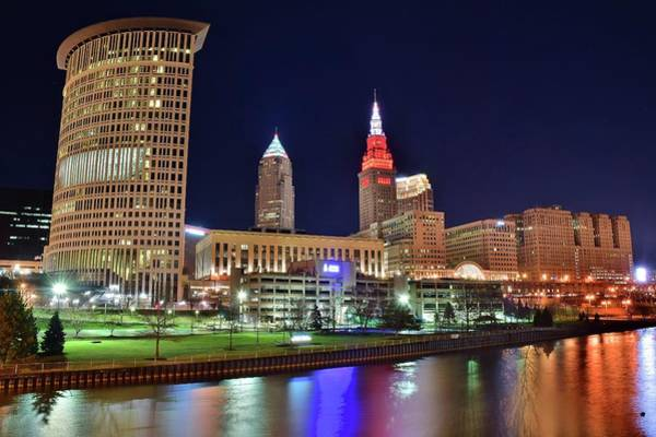 Wall Art - Photograph - Cle Over The Cuyahoga by Frozen in Time Fine Art Photography