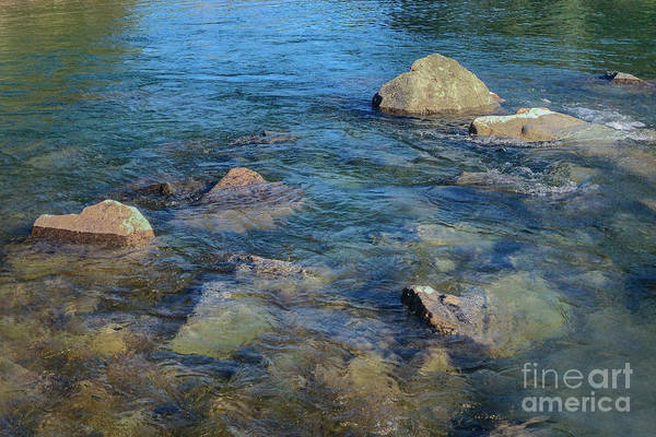 Photograph - Clean Water Rocks Landscape Photography By Omashte by Omaste Witkowski