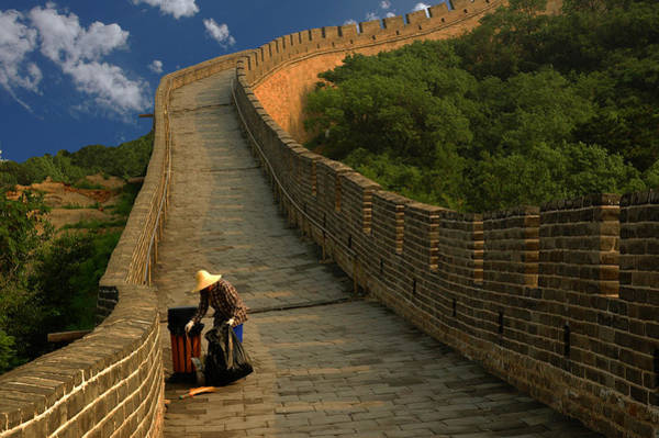 Photograph - Cleaning The Great Wall by Harry Spitz
