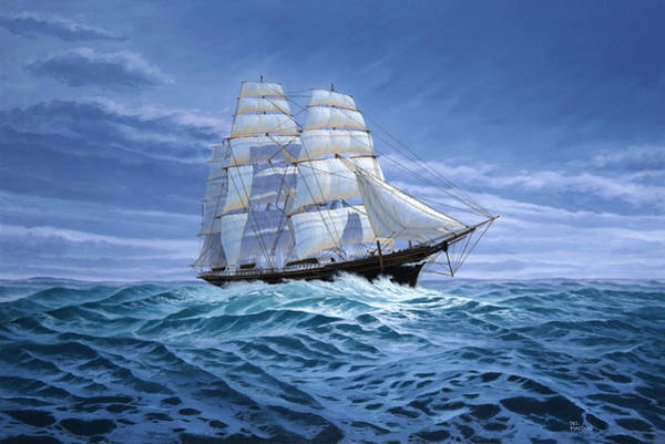 Painting - Clear Skies Ahead by Del Malonee