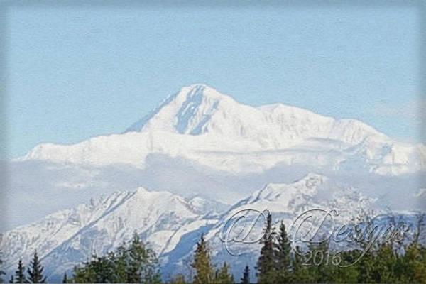 Elliott Digital Art - Clear Skies At Denali by Di Designs