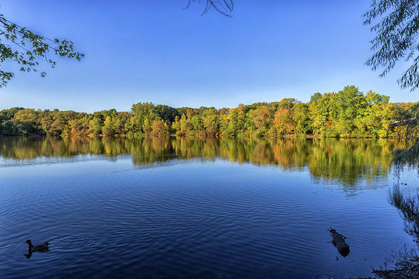 Photograph - Clear Skies Over Turners Pond In Milton Massachusetts by Brian MacLean