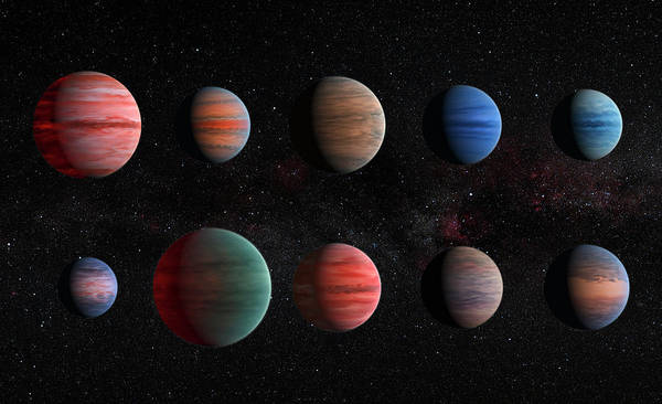 Hubble Telescope Photograph - Clear To Cloudy Hot Jupiters by Mark Kiver