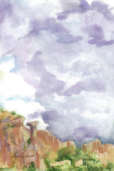 Wall Art - Painting - Clearing Skies In Sedona by Maria Hunt