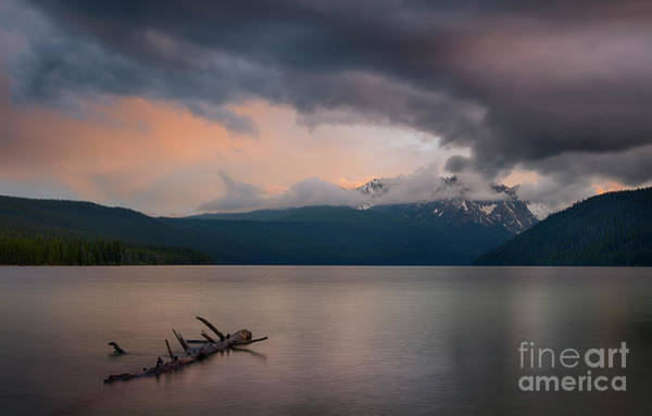 Wall Art - Photograph - Clearing Storm At Redfish by Idaho Scenic Images Linda Lantzy