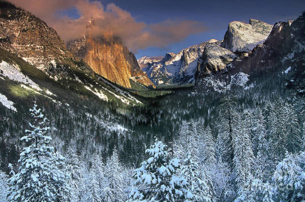 Photograph - Clearing Winter Storm El Capitan Yosemite National Park by Dave Welling