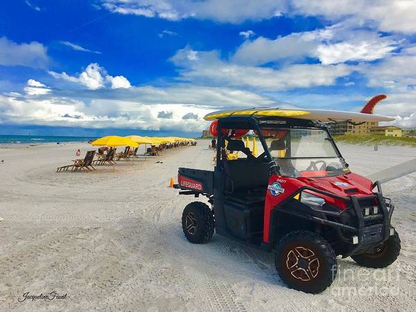 Photograph - Clearwater Beach Lifeguard Atv by Jacqueline Faust