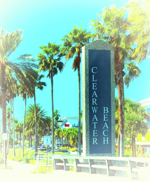 Photograph - Clearwater Beach Sign  by Ola Allen