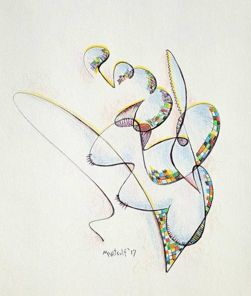 Drawing - Clef by Dave Martsolf