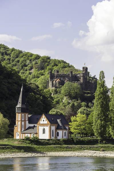 Wall Art - Photograph - Clemenskapelle And Burg Reichenstein 02 by Teresa Mucha