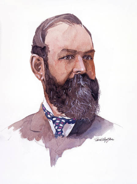 Painting - Clement Cornwall Portrait by David Lloyd Glover