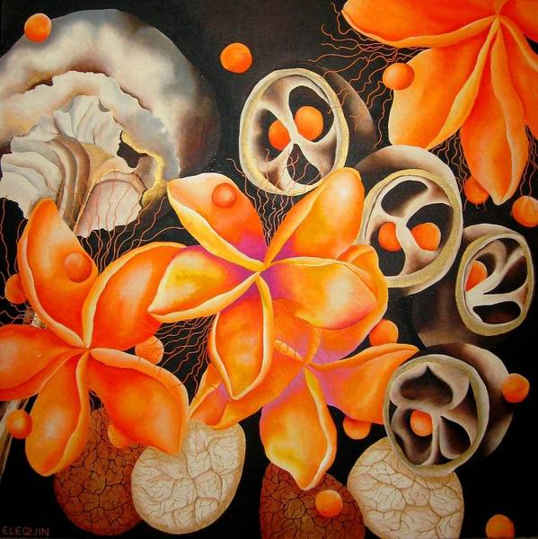 Wall Art - Painting - Clementine by Elizabeth Elequin