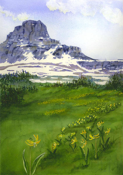 Painting - Clements Mountain - Glacier National Park by Marsha Karle