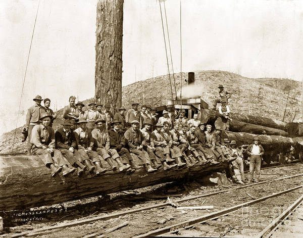 Photograph - Clemons Logging Company Camp Circa 1925 by California Views Archives Mr Pat Hathaway Archives