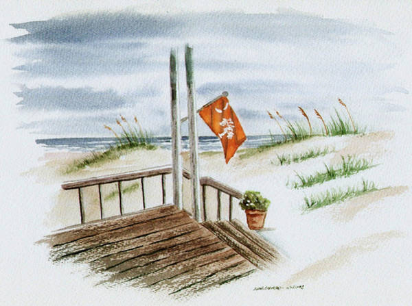 Porch Painting - Clemson Summer by Anna Barnwell-Williams