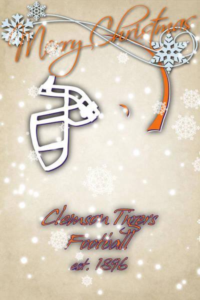 Wall Art - Photograph - Clemson Tigers Christmas Card 2 by Joe Hamilton