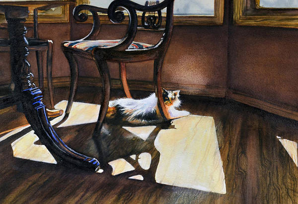 Painting - Cleo Loves The Sun by Laurie Tietjen