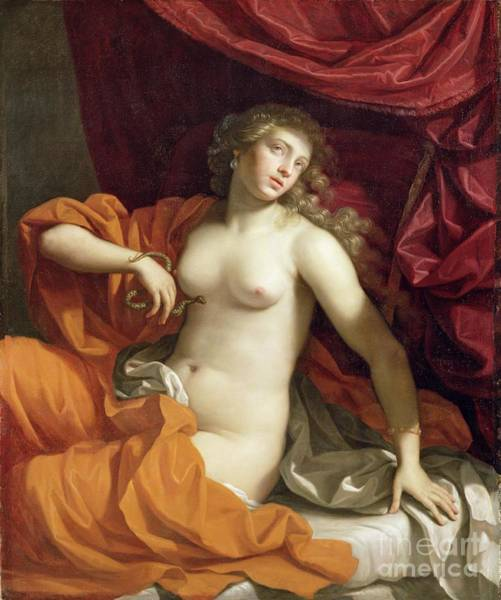 Tragedy Painting - Cleopatra by Benedetto the Younger Gennari