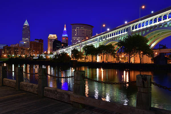 Photograph - Cleveland Boardwalk Skyline by Clint Buhler