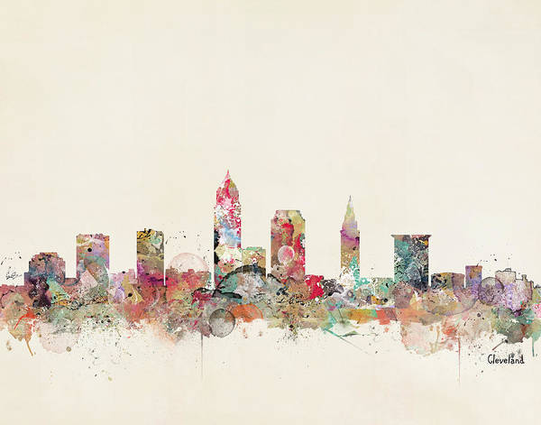 Wall Art - Painting - Cleveland by Bri Buckley