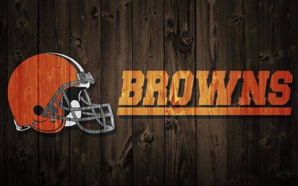 Digital Art - Cleveland Browns Barn Door by Dan Sproul