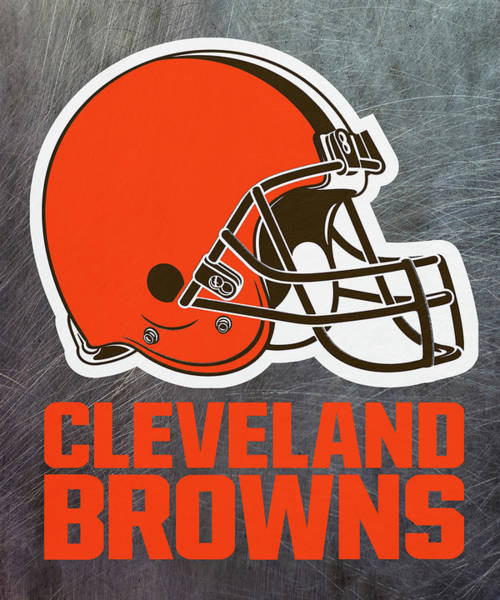 Mixed Media - Cleveland Browns On An Abraded Steel Texture by Movie Poster Prints