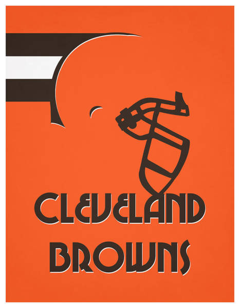 Wall Art - Mixed Media - Cleveland Browns Team Vintage Art by Joe Hamilton