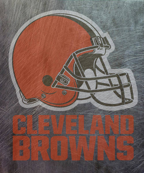 Mixed Media - Cleveland Browns Translucent Steel by Movie Poster Prints