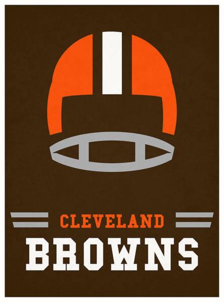 Wall Art - Mixed Media - Cleveland Browns Vintage Nfl Art by Joe Hamilton