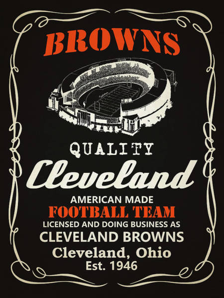 Iphone 4s Painting - Cleveland Browns Whiskey by Joe Hamilton