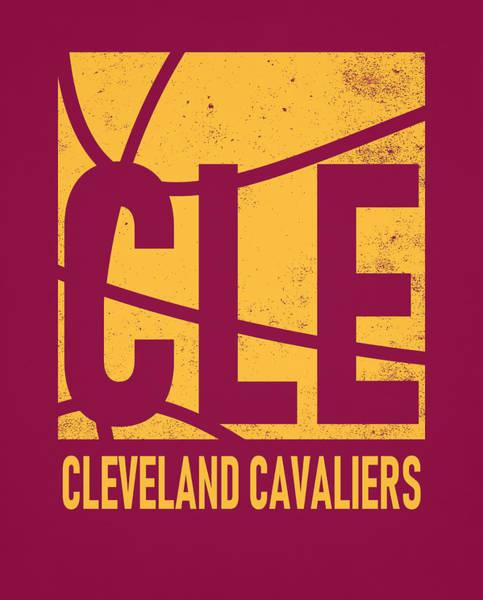 Wall Art - Mixed Media - Cleveland Cavaliers City Poster Art by Joe Hamilton