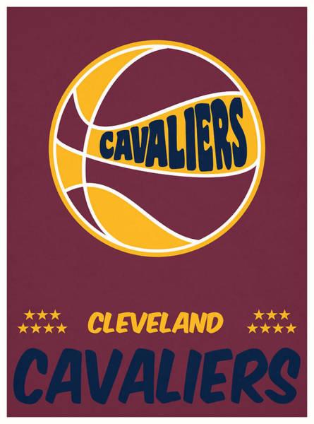 Wall Art - Mixed Media - Cleveland Cavaliers Vintage Basketball Art by Joe Hamilton