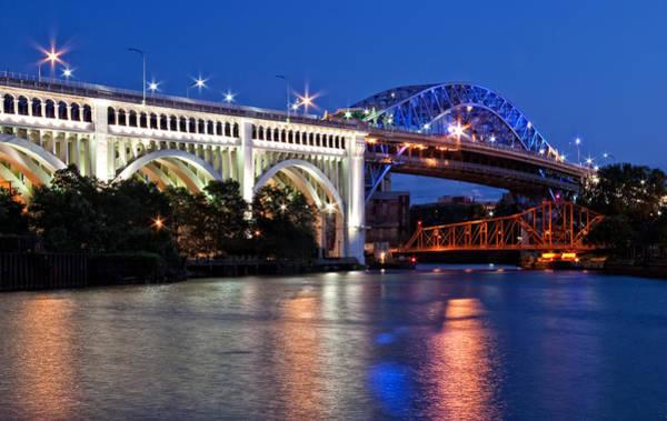 Cleveland Colored Bridges Art Print