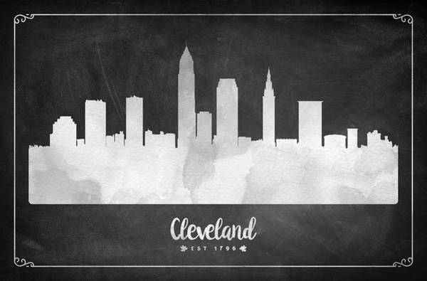 Wall Art - Digital Art - Cleveland Est 1796 - Usohcl03 by Aged Pixel