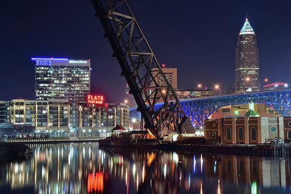 Wall Art - Photograph - Cleveland Flats East Bank by Frozen in Time Fine Art Photography
