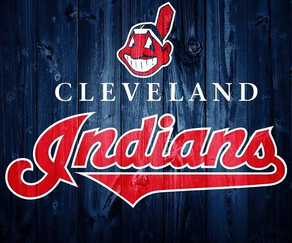 Wall Art - Photograph - Cleveland Indians Barn Door by Dan Sproul