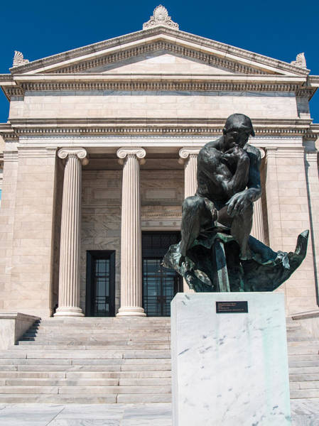 Photograph - Cleveland Museum Of Art, The Thinker by Stewart Helberg